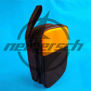 Double Layer Zipper Carrying Case Fluke 115 116 117 175 15b 17b 18b Multimeters
