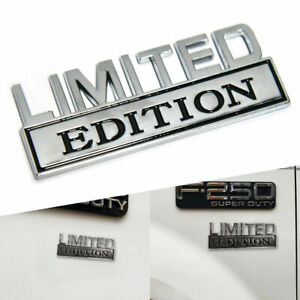 3d Limited Edition Emblem Chrome Badge For Ram Gmc Chevy Ford Jeep Car Truck Us