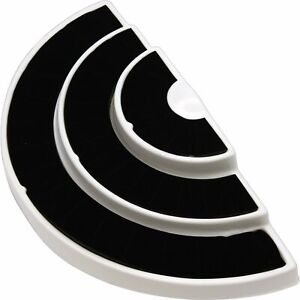 New 36 Slot 3 Tier Black white Ring Display Foam Jewelry Stand