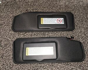 1986 1996 C4 Corvette Sunvisors With Vanity Mirror Black Pair Sun Shades