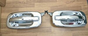 Door Handle Set For 2000 06 Chevy Silverado 1500 Extended Cab Rear Chrome 2 pcs