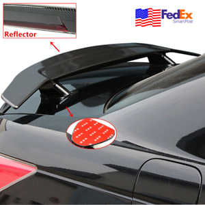 Universal Car Tail free Trunk Spoiler Drill free Rear Wing Carbon Fiber Look 52
