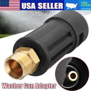 Pressure Washer Gun Lance Jet Wash Fitting Adapter For Karcher K M22m Inlet Us