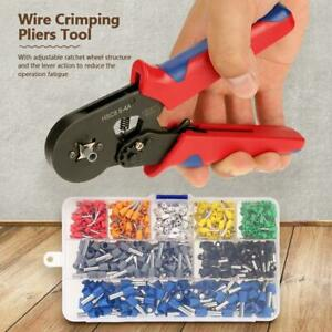 Wire Crimping Pliers Tool Ferrule Crimper 0 25 6mm With 800pcs Crimp Terminal