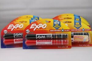 Lot Of 7 2 Pack Expo Dry Erase Markers Ink Indicator black Red Low Odor Ink