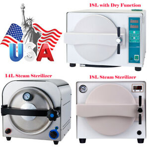14 18l Dental Autoclave Steam Sterilizer Dry Heat Sterilizer Drying Function