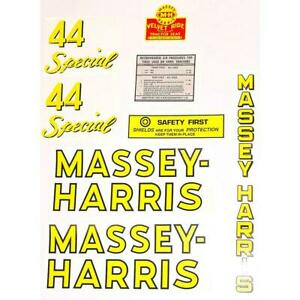Dec118 Mh 44 Special Mylar Decal Set Fits Massey Harris