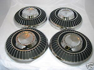 1964 71 Pontiac Standard Wheel Dog Dish Hubcap Set