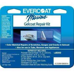 New Evercoat Fiberglass Resin Marine Gelcoat Repair Kit Boat Hull 108000 New