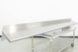 Used 132 Stainless Steel Wall Mounted Shelving 560020