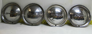 Used Oem Set Of 4 15 Hubcaps Wheel Covers 1949 1951 Chrysler 2751