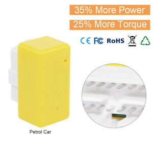 Yellow Drive Obd2 Obdii Chip Tuning Box Power Boost Fuel Saver For Petrol Cars