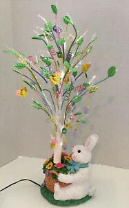 Cottontale Collection 18quot; Fiber Optic Tree Easter Bunny Multi Color