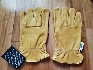 Deerskin Driver Gloves Full Leather Work And Driving Gloves Large brand New