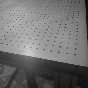 Tmc Optical Table Breadboard 39 x39 x2 M6 Taped Holes With Table Casters