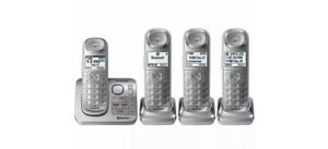 Panasonic 4 Handset Link2cell Cordless Phone System Via Bluetooth New Open Box