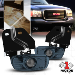 Smoke Projector Fog Light Bumper Lamps For 99 00 Cadillac Escalade Yukon Denali