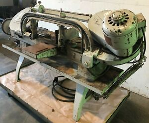 8 X 16 Wells Horizontal Band Saw No 8 m 8 Rounds 1 2 Hp Low Price 30808