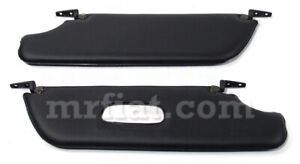 Fiat 850 124 Spider Sunvisor Set With Hinges New