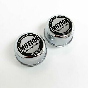 Baldwin Motion Chevy Logo Chrome Breathers With Grommets Set