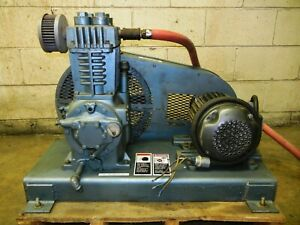 Quincy 216 Air Compressor With 2 Hp 3 Phase Motor Low Hours Great Condition