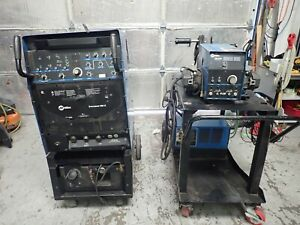 Miller Syncrowave 350 Lx Welder With D 64m Wire Feeder Coolmate 3 Cooler