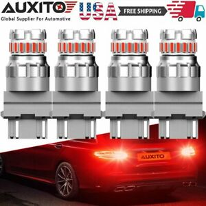 4 Led Brake Stop Tail Light Bulbs 3157 3057 Red For Chevy Silverado 1500 99 2013