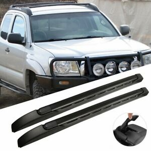 Top Roof Rack Cross Side Rails Bars Set For 2005 2019 Toyota Tacoma Double Cab