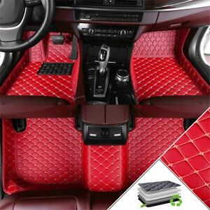 Floor Mats For Toyota Camry 18 19 Full Coverage Luxury Leather Car Liner Set Red