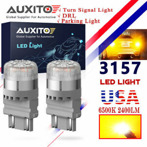 2x Auxito Yellow Amber 3157 3156 Led Turn Signal Parking Light Blinker Bulb Ck