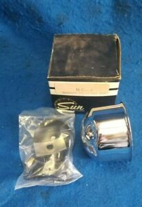 Vintage Nos Sun Nc 4 Chrome Mounting Cup Super Tach Tachometer Chevy Ford Gasse