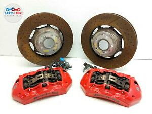 2015 2020 Mercedes C63 S Amg W205 Front Brake Caliper Disc Rotor Brembo Set Assy