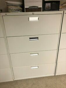 Hon Steel 4 Drawer Lateral File Cabinet