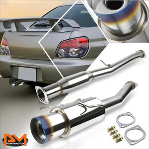 For 02 07 Subaru Impreza Wrx sti 4 5 Burnt Muffler Tip Racing Catback Exhaust