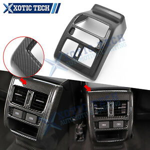 Carbon Fiber Pattern Rear Air Vent Outlet Cover Trim For Honda Accord 2018 2021