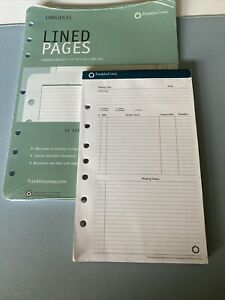 Franklin Covey Lined Pages Meeting Notes Bundle