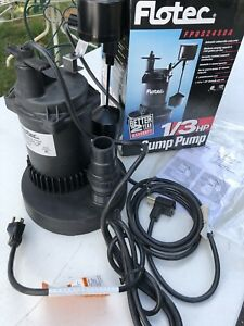 Flotec Fp0s2450a Submersible Sump Pump Un Used Open Box 1 3 Hp 3150 Gph