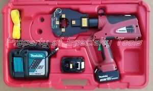 Burndy Pat81kftli Hydraulic Battery Operated 6 T Dieless Crimper Crimping Tool