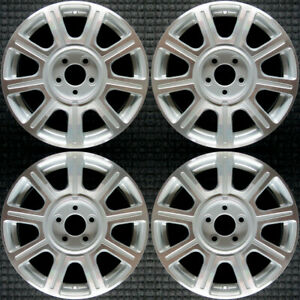 Cadillac Dts Machined 17 Oem Wheel Set 2008 To 2011