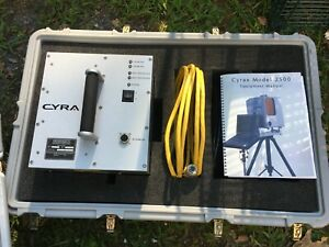 Cyra 2500 Cyrax 3d Laser Survey Scanner System With Cords Carrying Cases