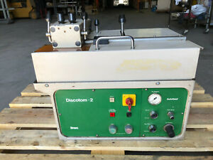 Struers Discotom 2 Tabletop Precision Metallurgical Programmable Cut Off Machine