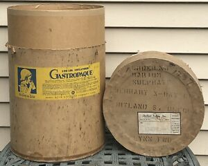Vtg Gastropaque Contrast Agent Canister Buck X ograph Barium Sulfate Radiology