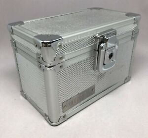 Vaultz Index Card File Silver Case Holder Box Storage 3 X 5 Container Recipes