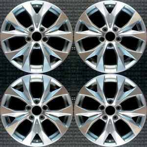 Honda Civic Machined Lip W Charcoal Spokes 17 Oem Wheel Set 2012 To 2013