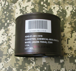 Gas Mask Filter Biological Chemical Cartridge 40 Mm Cbrn Nbc Military Canister