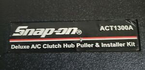 Snap On Act1300a Deluxe A C Clutch Hub Puller Installer With Case