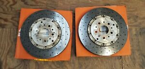 Ferrari California 458 Italia Rear Ccm Carbon Brake Rotors Used 304561