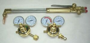 21 Acetylene Cutting Torch W Tip Oxy fuel Regulator Set Cga 510 Fits Victor