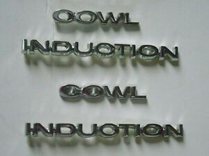 1967 1972 Chevy Chevrolet Hood Emblem Cowl Induction Set 4 Pc For Ss Hood M1344