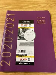 2020 2021 At a glance 8 25 X 11 Academic Appointment Book Contempo Wine 70
